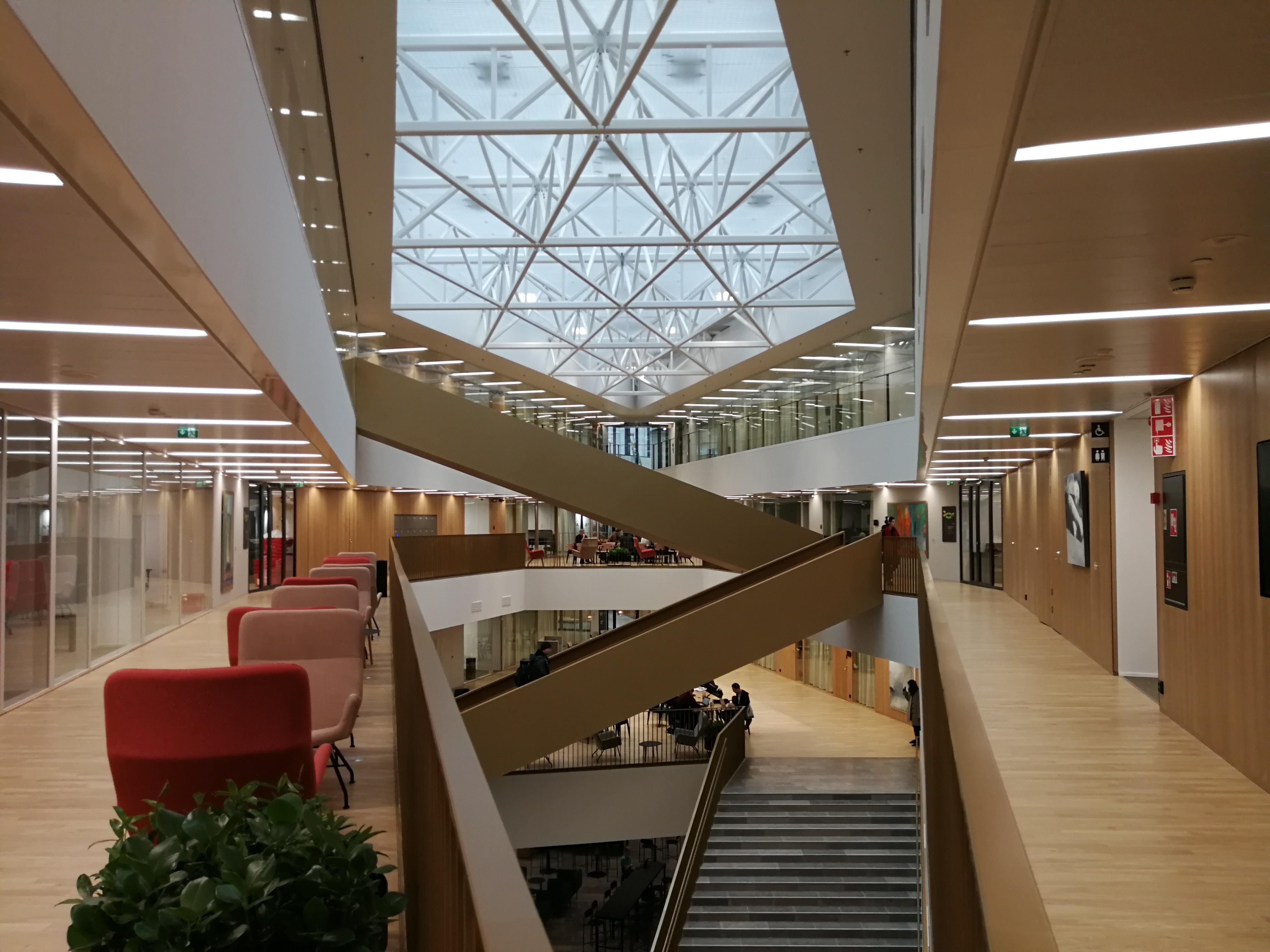 Stairs and lobby of Ekonominaukio 1 second floor