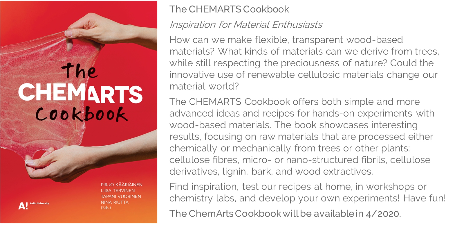Cover and contents of The CHEMARTS Cookbook